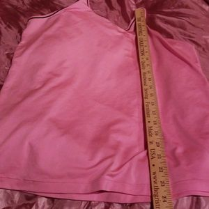 Under Armour Tops - UNDER ARMOUR workout tank pink w black XL